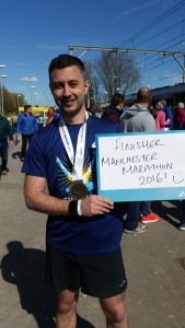 Manchester marathon finisher