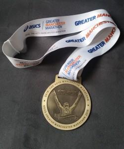 Manchester Marathon medal 2016